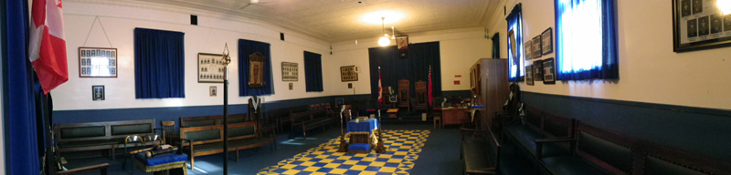 Interior of Russell Lodge
